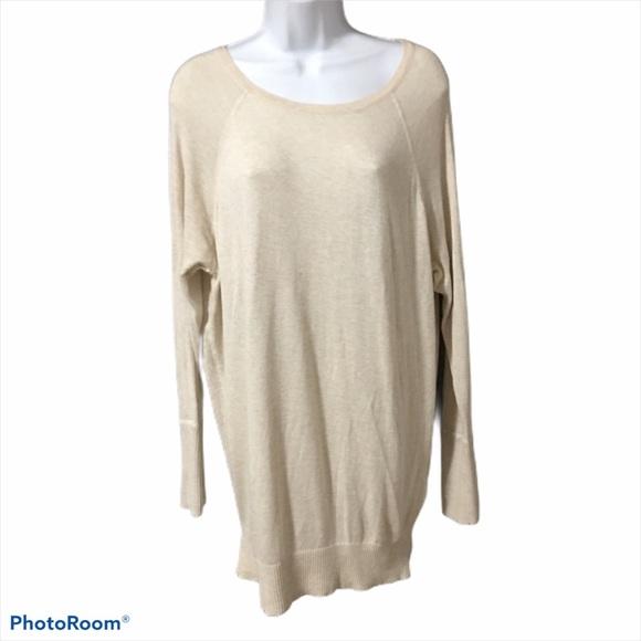 Long Cream Coloured Soft Sweater
